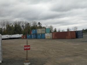 Yard Storage Space Trailers and Shipping Containers