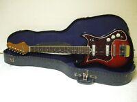 Tempo 1960s Vintage Electric Guitar and Original Case Silvertone