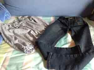 Girls H&M Shirt & Old Nay Skinny Jeans