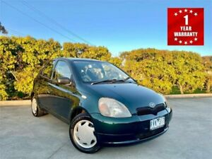 2002 Toyota Echo NCP10R Green 4 Speed Automatic Hatchback Mordialloc Kingston Area Preview