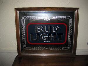 Bud Light, Vintage Framed Bar Mirror