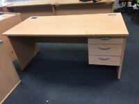 4 x great quality straight Offcoe desks with built in draws on clearance @ just £50 each!!