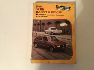 1975 -1983 VW Rabbit Turbo Diesel TDI Pickup GTI Shop Manual