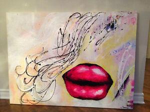 Toile peinture abstrait