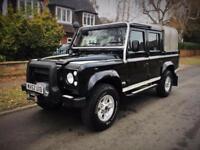 2002 Land Rover Defender 110 2.5 TD5 Black Double Cab Pick Up 108k