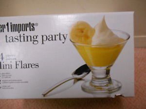 22 PIECE DESERT DISHES & SPOONS FROM PIER 1 IMPORTS NEW IN BOX!!