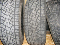 TRADE, 4, 20 INCH PIRELLI TIRES FOR AN ALUM. BOAT&TRAILER