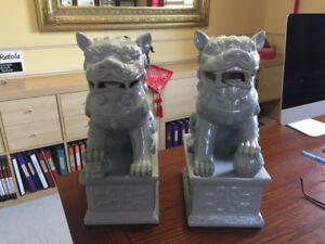 Chinese Fu Dog Statues ~ Pair