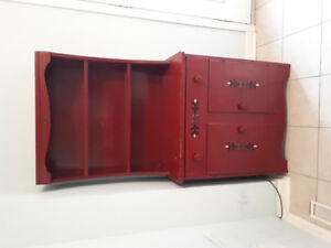 Cute, small, painted red buffet for $100 OBO