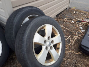 """17 """" tires and rims"""