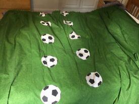 Football blackout curtains, 163x182, pencil pleat, green grass pattern