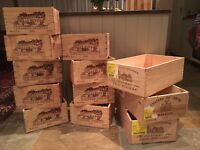 Genuine French wine crates, boxes