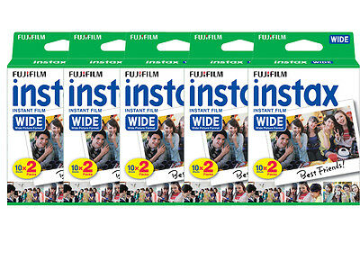 100 Prints Fujifilm Instax Wide Instant Film for 200 210 300 Camera 10/2019