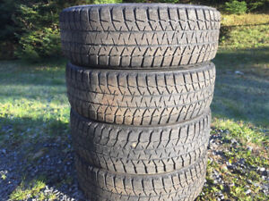 Four BridgeStone 195/65R15 Winter Tires