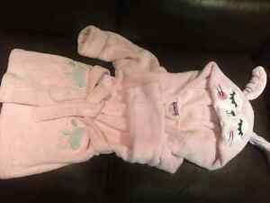 Bathrobe, slippers and towel for 2 yr toddler girl
