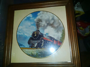 Royal Hudson framed plate