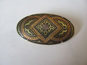 Epinglette /broche Or et Bronze ANtique