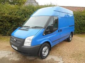 2012 FORD TRANSIT 2.2TDCI 100BHP 6SPEED T350 MWB HIGH ROOF FWD VERY CLEAN VAN