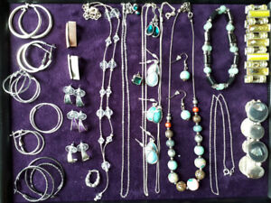 SILVER JEWELRY, ASSORTED