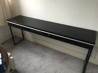 IKEA black gloss dressing side table