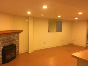 1 bedroom basement apartment available May 1