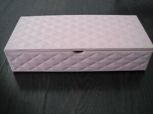 Pink Quilted Storage/Jewellery Box London Ontario image 1