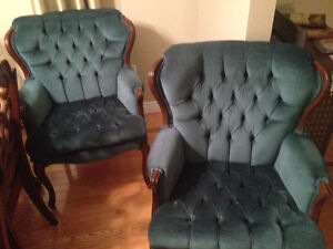 Emerald green accent chairs