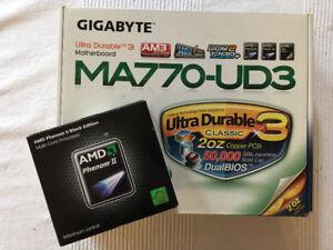 Carte mère/Motherboard Gigabyte MA-770UD3 + AMD Phenom II 955