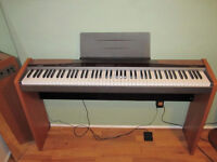 Casio Piano PX-100 with Stand, and Adapter (88 weighted keys)