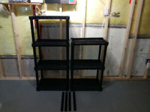 Black Plastic Movable Shelves