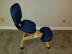 Ergonomic kneeling chair adjustable height with backrest