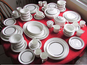 ESTATE SALE, WEDGWOOD BONE CHINA, CHARISMA PATTERN 96 PIECES