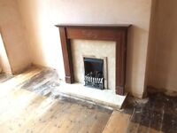 Lovely fireplace with gas fire