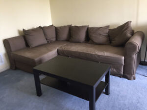Ikea Sofa and coffee table