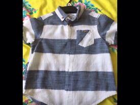 Boys stripe shirt age 4