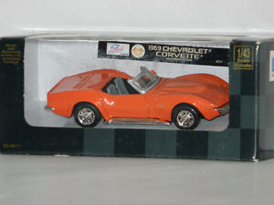New Ray 1/43 Scale 1969 Chevrolet Corvette Diecast Car Orange