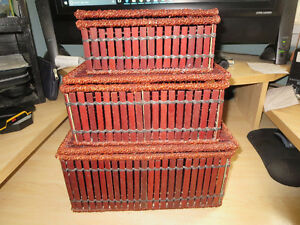 STACKABLE - NESTABLE - BAMBOO - WOOD - TRINKET BOXES