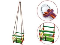 Classic Wooden Cradle Swing Comes with matching cushion and Hooks