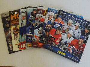 LOT 6 ALBUMS DE STICKERS DE HOCKEY PANINI VIDE