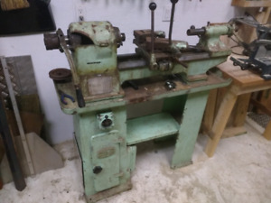 Older metal lathe.