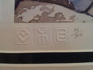 """""""Rock Study"""" Lithograph by A.J. Casson appraised at $650 Sarnia Sarnia Area image 2"""