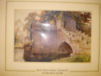 Antique Print of Queen Mary's Bower