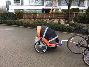Bicycle trailer for one or two kids