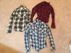 3 TNA plaid shirts