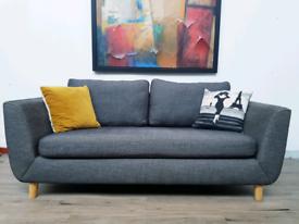 John lewis G plan 2 seater sofa in charcoal grey fabric RRP £1500
