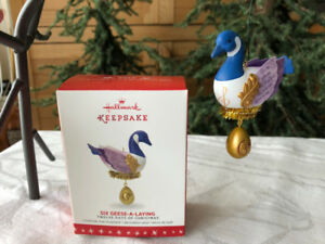 Hallmark Six Geese-A-Laying #6 Christmas Tree Ornament - NEW