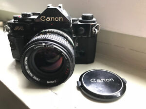 Canon A-1  SLR camera and 50mm f1.4 lens