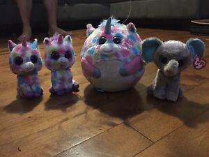 TY beanies toutou stuffed animals