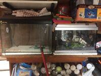 Job Lot, 2 fish tanks and accessories