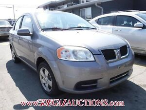 2009 PONTIAC WAVE BASE 4D SEDAN BASE